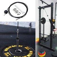 Bandas de resistência 2m / 2.5m / 3m Gym home fitness fio corda lenço ajustável máquina espessa máquina para polia de aço resistente aço 5mm i1b0