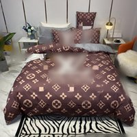 brown fashion designers bedding sets luxury duvet cover queen king size bed sheet pillowcases designer comforter set high quality pillow covers