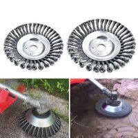 Steel Trimmer 6 Inch Grass Trimmer Head Steel Wire Trimming Head Rusting Brush Cutter Mower Wire Weeding Head for Lawn Mower.#ooi