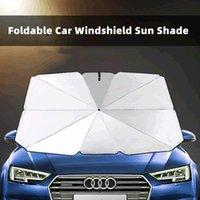 Umbrellas Foldable Car Windshield Sun Shade Umbrella UV Cover Sunshade Heat Insulation Front Window Interior Protection 125cm 145cm
