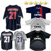 2001 2002 P Ronaldinho Retro S Fútbol Jersey G 01 02 Aris Anelka Okocha Heinze Pochettino Arteta Aloisio Clasísticas Vintage Camisetas