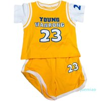 Clothing Sets Children's basketball clothes fake two-piece sports suit boys summer clothess baby jersey boy babys shorts two-pieces vest spo