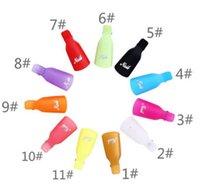 2021 Plastic Nail Art Soak Off Cap Clip UV Gel Polish Remover Wrap Tool Tips For Fingers 10Ppcs set 11 colors