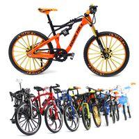 Juguetes de bicicleta Modelo de simulación Mini regalos de cumpleaños Boys Diecast Cars Adorns Collection Aleación Bike Toy 1:10