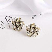 Flower Design Ear Studs Women Korean Petal Earrings Elegant And Simple Cute Accessories Fashion Jewelry Stud