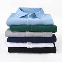 Men's Polos Top Quality Small Horse Summer Short Sleeve Shirts 100% Cotton Casual Solid Color Shirt Fashion Homme