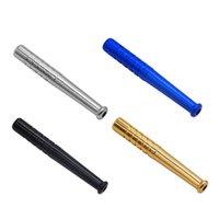 59mm Metal Snuff Stefl Sniffer Snorter Nasal Base Ball Bat Tube Snifer Nasal para Hoodashs Fumar Tubería Herramientas Accesorios 4 Colores