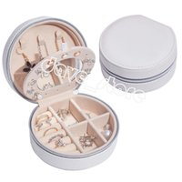 PU Leather Portable Jewelry Box Multifunctional Storage Boxes with Mirror Desktop Decoration
