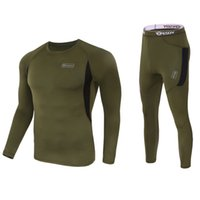 2021 homens táticos underwear sportswear elástico secagem rápida esporte casual rodando conjunto de manga longa top calças terno