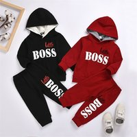 2021 Spring New Hot Boys' Suits Children's Long-sleeved Hooded Sweatershirt + Trousers Clothes Kids Tracksuit Autumn Outwear Set 1810 Z2