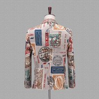 Men's Suits & Blazers Pyjtrl vintage retro men's jacket plus size, printed casual just blazer wear hombre wedding attire ZWKO