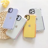 Dual Color Transparent Clear TPU Cases Air Cushion Drop Full Protective Shockproof Back Cover For iPhone 12 Mini 11 Pro XR XS Max X 8 7 6 6S Plus SE2