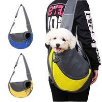 Pet Dog Carrier Single Shoulder Bag Breathable Outdoor Travel Handbag Pouch Mesh Oxford Sling Comfort TravelTote Car Seat Covers