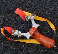 직업 사냥 Slingshot 양궁 투석기 Slingbow 슈팅 플랫 고무 밴드 회전 지원 머리 조준 지점 야외 대상