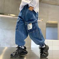 Jeans Kids Pants Boys Autumn 2021 Korean Version Of Children Boy Soft Denim Teen Cotton Casual Ankle-length