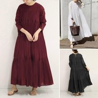 Fashion Women Maxi Dresses 2021 Ladies Autumn Patchwork Famale Solid Vestidos Casual Vintage Robe Longue Plus Size 5XL