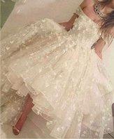 Romántico Tulle Homecoming Vestidos fuera del hombro Flores de encaje de manga corta Alta Vestido de baile bajo Vestido de noche árabe Saudita H0916