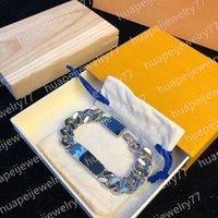 Модные дизайнеры браслет из нержавеющей стали серебряные цепные браслеты для мужчин и женщин влюбленные вечеринки подарок хип хмель ювелирные изделия
