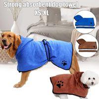 Dog Apparel Microfiber Bath Towel For Dogs Super Absorbent Bathrobe Quick Dry Cat THJ99