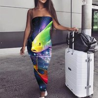 Casual Dresses KYKU Fish Dress Women Space Galaxy Sundress Colorful Ladies Nebula Bodycon Animal Boho Womens Clothing Elegant