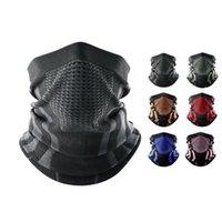 Cycling Caps & Masks Thermal Face Bandana Mask Cover Neck Warmer Gaiter Bicycle Ski Tube Scarf Hiking Breathable Print Women Men Winter