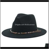 Hats, Scarves & Gloves Fashion Aessoriesmen Fedora Western Cowboy Jazz Caps Casual Vintage Winter Hats Wide Brim Black White Khaki Panama Wom