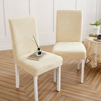 Chair Covers Spandex Elastic Cover Anti-dirty Waterproof Kitchen Dining Slipcover Protector Jacquard Stretch Seat Case For El