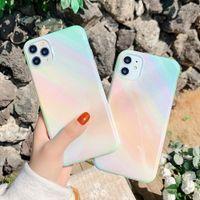 Blu-ray Glitter telefone casos para iphone 12 11 pro x xr xs max mini 7 8 mais soft imd lustroso tampa traseira brilhante