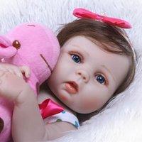 """22 """"Reborn baby poppen full body vinyl siliconen meisje pop echte levensechte pasgeboren waterdichte bad geschenken"""