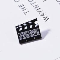 Movie Set CLAPBoard EnaMEL Pin Je parle couramment dans les citations de cinéma Broches Bag Vêtements Broche Broche Broche Pin Badge Bijoux Cadeau Pour amis 371 T2