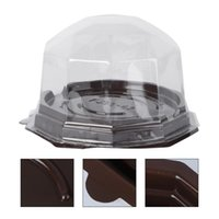 Gift Wrap 50PCS Clear Small Cake Pastries Boxes Cases Disposable Transparent Cupcake Muffin Holders Cups For Puff Moon