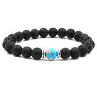 Herren Armbänder Luxus Schmuck Perle Naturstein Schmuck Günstige Anker Perlen Buddha Armbänder für Männer Frauen Buddha Lava Chakra B