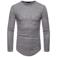 Nice New Men Round Neck Knitting T-shirt Casual Men Cotton Long-sleeved Slim T Shirts For Autumn Winter