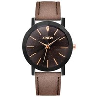 Relógios de pulso xi marca relógios mens moda simples banda de couro quartzo masculino exclusivo designer relógio reloj hombre preto
