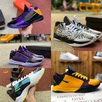 ZK5 KB5 5 S Bruce Lee Protro Basketbol Ayakkabıları Lakers Mor Stag 5x Champ Altın 2 K20 Kaos Mamba Zoom ZK 5 Erkek Sneakers Tenis