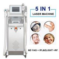 ND YAG Laser Tatoo Máquina de remoción Láser IPL Eliminación de cabello RF Cuidado de la piel Elight Piel Piel Equipo de apriete
