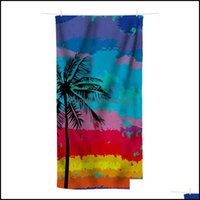 Equipment & Outdoorsprinted Beach Towel Outdoor Water Sports Quick-Drying Swimming Surfing Portable Shawl Chair Blanket Er-Ups Drop Delivery