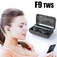 Earphones F9 TWS Earphone Air Bluetooth Earbuds V5.0 sports Headphone Waterproof With 2000mAh Power Bank charging Headset
