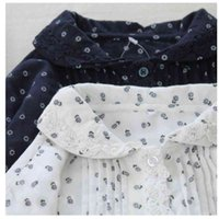 Women's Blouses & Shirts Lamtrip Literary Retro Little Floral Print Lace Double Layer Cotton Yarn Long Sleeve Shirt Women Vintage