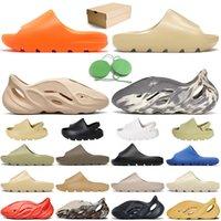 adidas yeezy slide foam runner slippers Yaz Moda Platformu Slayt Açık Rahat Terlik Toprak Kahverengi Üçlü Siyah Köpük Koşucu Kemik Erkek Kadın Çocuk Eğitmenler Sandalet Slaytlar