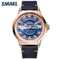 Wristwatches SMAEL Men Watches Quartz Movement Military Clock Waterproof 30M Auto Date Week Display Relogio Masculino 9125 Watch Gold