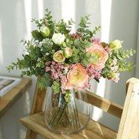 Fleurs décoratives Couronnes Bébés artificiels Respiration Lotus Diy Floral Bouquets Arrangement Mariage Faux Gypsophila Decor de la maison