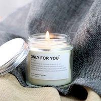 Klare handgemachte duftende Kerzen Kokosnuss Sojabwachs Kreative Aromatherapie ätherische Ölkerze Glaskanne Verpackung kundenspezifisches Logo Hochzeitsgeschenk HY0040