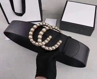 Дизайнерские бренды ремни Женские кожаные черные красные большие золотые пряжки классический досуг роскошный 7см ремень и подарочная коробка
