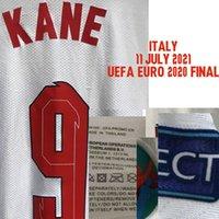 Home Têxtil 2021 Jogador desgastado Edição Final Kane Montagem Foden Grealish Sterling com jogo MatchDetails Maillot Soccer Patch Badge