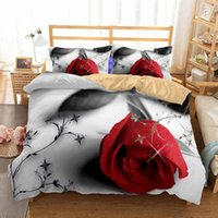 Bedding Sets Red Rose Floral Set Duvet Cover With Pillowcase Tulip 3d Printing Home Textile Queen King Size Wedding Comforter
