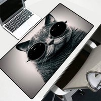 Mouse Pads & Wrist Rests Mairuige Game Pad Animal With Sunglasses Cat Pattern Printing Big Computing Notebook Office Accessories