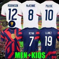 2021 Pulisik McKennie Soccer Jersey Aaronson Musah 2020 Basın Sargent Morgan Lloyd Amerika Futbol Formaları Amerika Birleşik Devletleri Gömlek Camisetas Leticget Dike Erkekler + Çocuklar