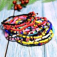 Charm Bracelets MOON GIRL 20 Pieces Seed Beads Bracelet Boho Fashion Bohemian Elastic Vintage Wrap Pulseras Femme Drop