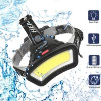 Headlamps C2 8000LM USB Rechargeable COB Headlamp LED Headlight Wide Angle Head Lantern Light Use 18650 For Outdoor Hiking Lamp Torch